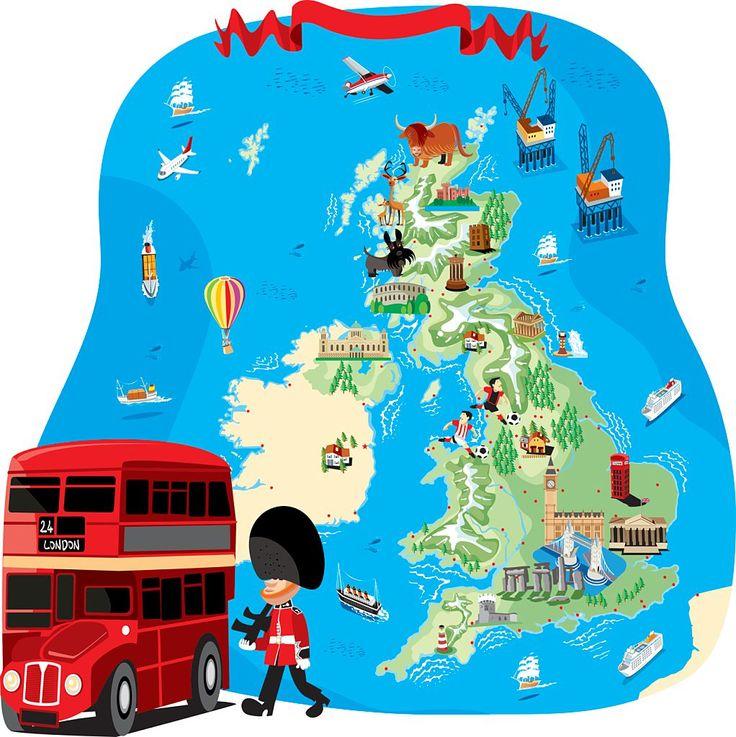 Картинка карта англии для детей