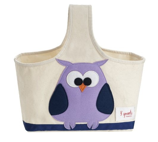 *Hoot! Stylish Storage* 3 Sprouts Storage Caddy - Owl, Nursery Decor + Storage