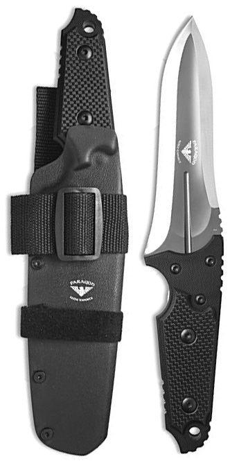 Paragon Warmonger Tactical Fixed Blade Knife Black G-10Carbon Fiber