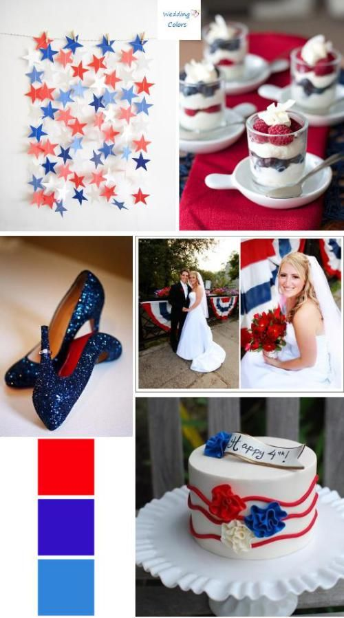 Red,White and Blue Wedding Palette