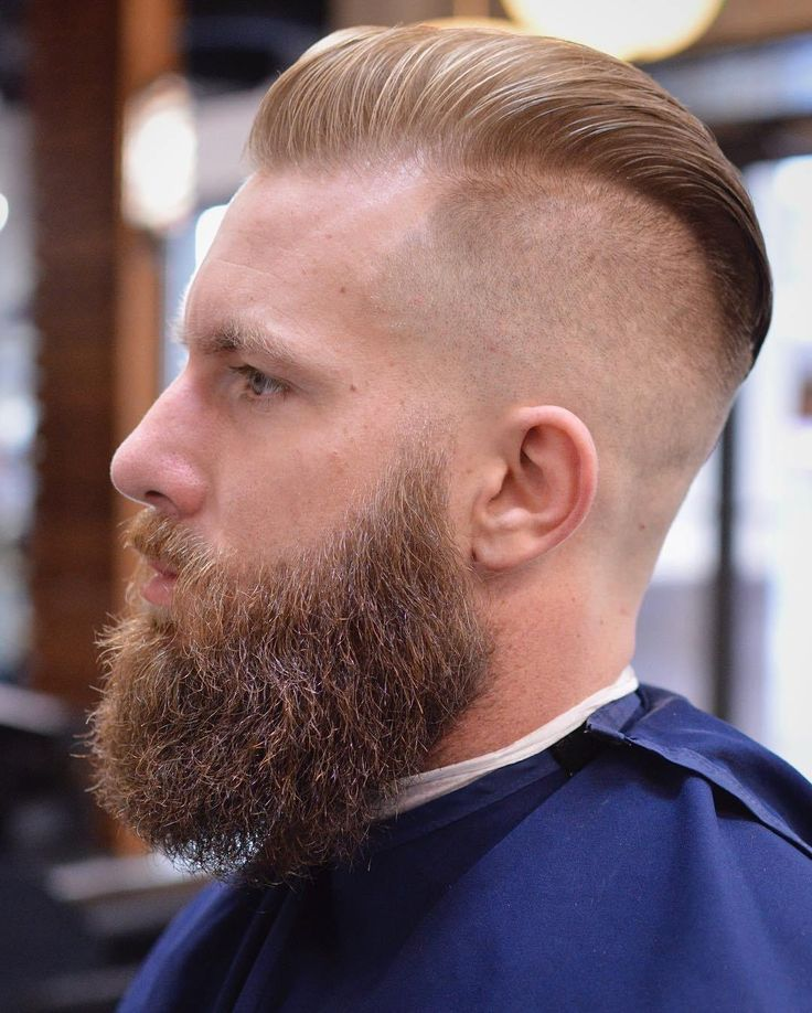 Undercut Skin Fade Pompadour and Beard lightly Trimmed