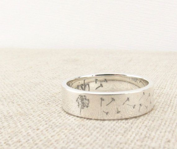 Dandelion Ring  Jewelry   Wish Ring  Silver Ring  by emilyjdesign