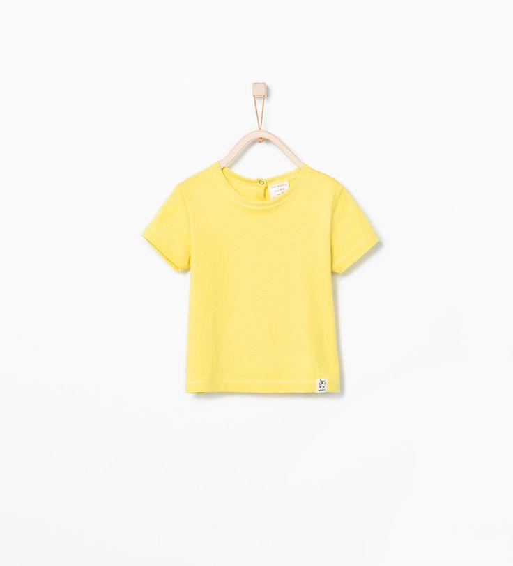ZARA - CRIANÇAS - T-shirt algodão orgânico básica
