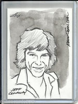 Jeff Conaway 2011 Leaf National Convention Sketch Card #1/1 by Kevin John