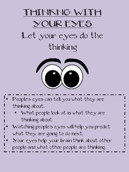 Free Social Thinking Worksheets | BEING A DETECTIVE-SOCIAL SKILLS, THINKING WITH YOUR EYES, PRAGMATIC ...