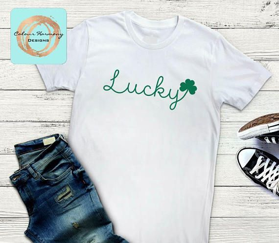 St. Patrick's Day/St. Patty's Day Lucky Script T-Shirt