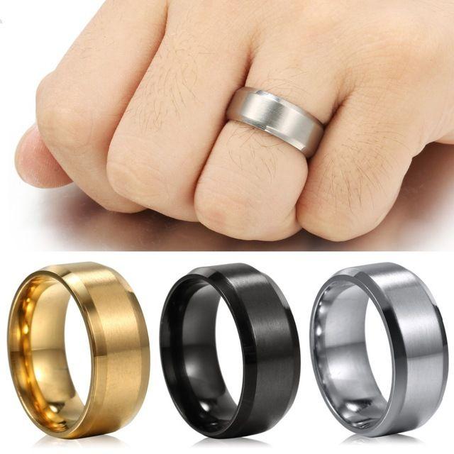 Панк-Стиль Палец Кольцо Мужской Подарок Новая Мода Углеродного Волокна Титана Стали мужские Кольца