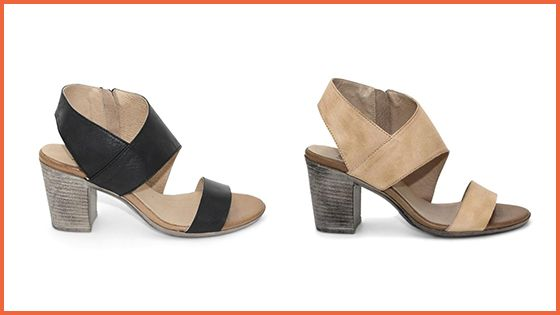 Available in two classic colours, we love the Sabrina Heel in both Black and Cream.