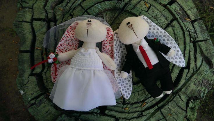 Toy Bunny Rabbit Bride White Wedding Dress Mascot by KotOmkaRU on Etsy