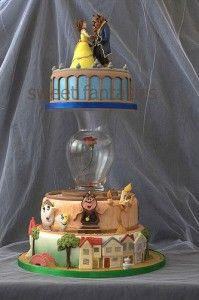 the most amazing cake ever! love beauty and the beast! @Belle Butler,