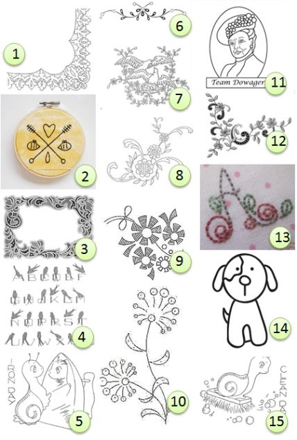 Free hand-embroidery designs | stitch | Pinterest