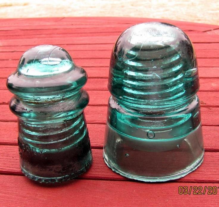 103 best vintage glass insulator art images on pinterest for Vintage glass telephone pole insulators