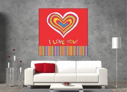 Tablou canvas I Love You - cod B22