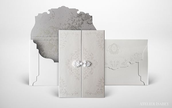 Chinese Qing Dynasty Style Wedding Invitation by Atelier Isabey, via Behance