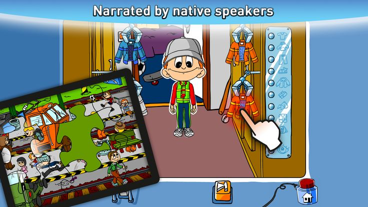 Narrated by native speakers
