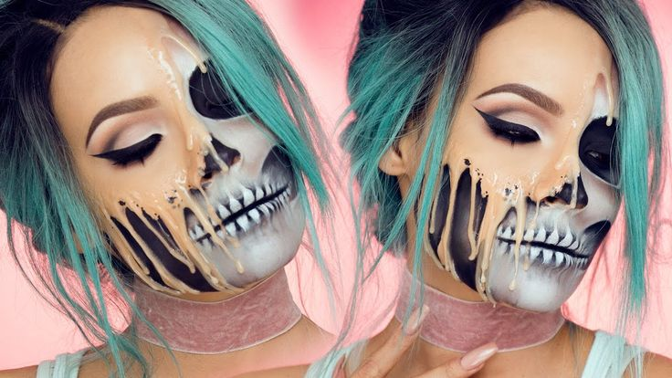A Gruesome Halloween Makeup Tutorial That Makes It Look Like Your Face Melting Off of Your Skull