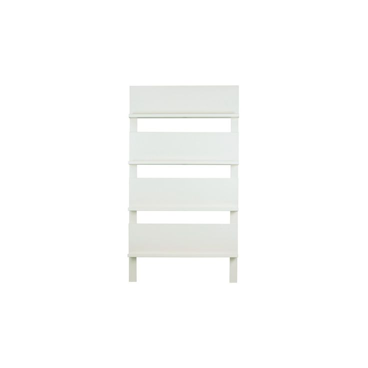 CONTEMPORARY MAGAZINE RACK & Display Unit in White