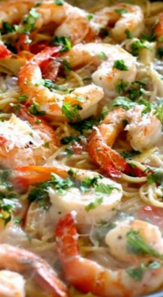 skillet shrimp and artichoke pasta artichoke pasta service rice dishes ...