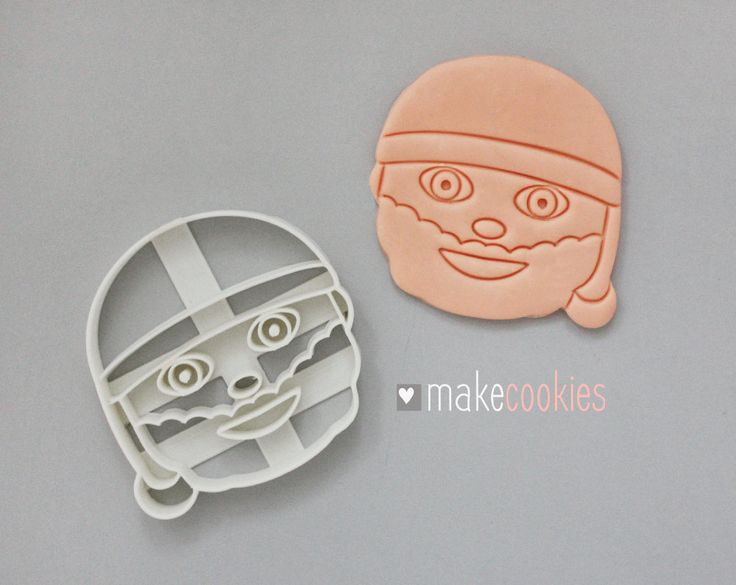 Santa Claus Emoji Cookie Cutter by MakeCookies on Etsy