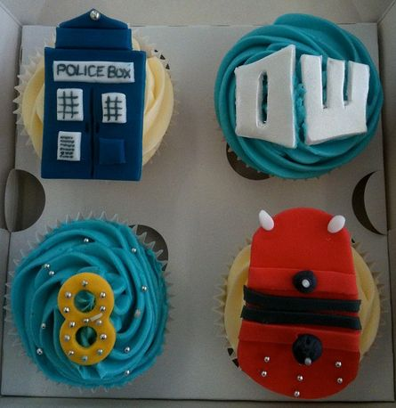 Doctor Who cupcakes