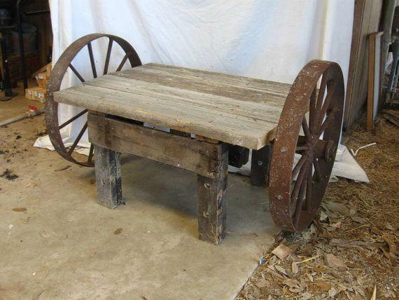 Steel Wheel Yard Table By SplitOakCustoms On Etsy, $520.00 · Ornaments IdeasGarden  OrnamentsSteel WheelsWagon ...