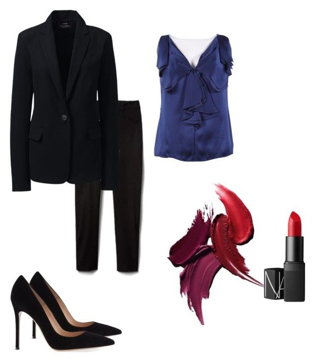 """""""Office 6"""" by marmileva-tanya on Polyvore featuring мода, Lands' End, Gianvito Rossi, Valentino и NARS Cosmetics"""