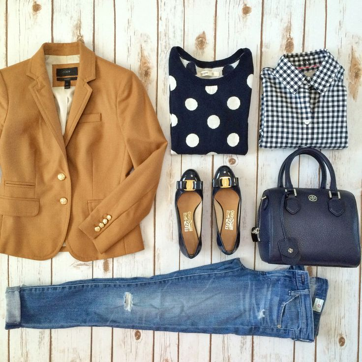 Love the whole outfit! I like the plaid and polka dots paired together. Great idea!