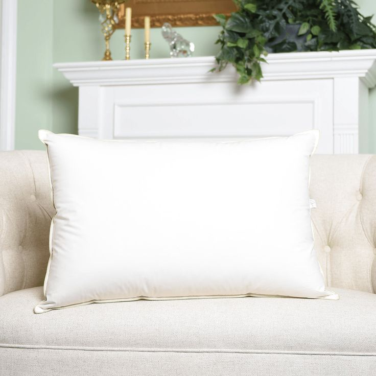 Natural Nights Classic 75|25 Down Feather Pillow Queen Size - Extra Firm (39oz)