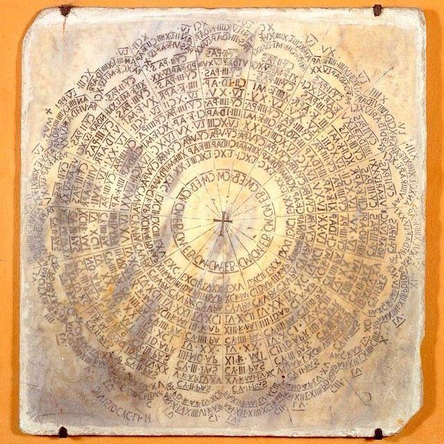 Nel Museo Arcivescovile di #Ravenna una lastra marmorea incisa come calendario della Pasqua | MyTurismoER: Ravenna attraverso lo sguardo fotografico di @livingravenna