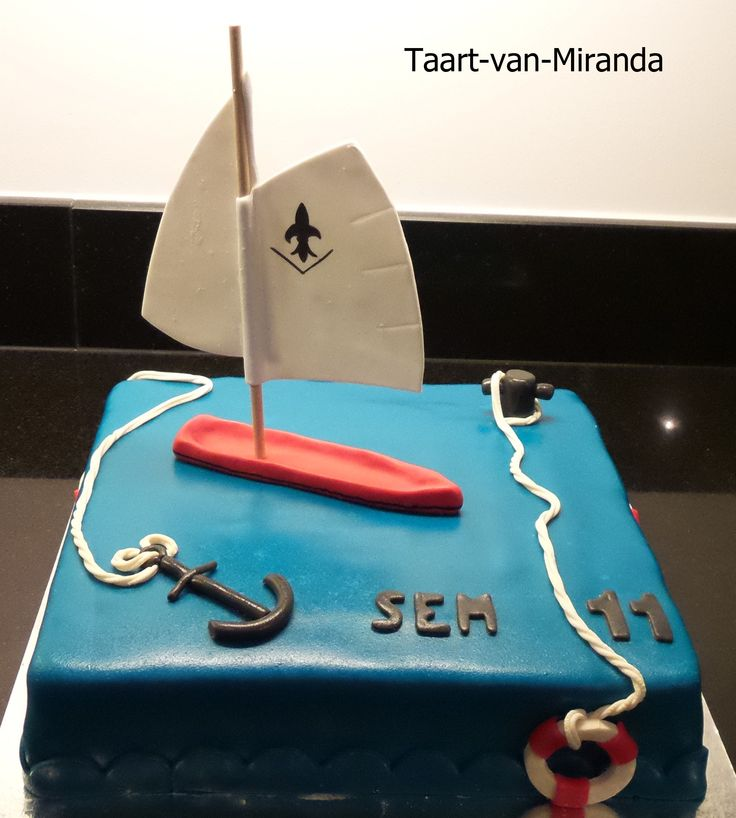 Boat cake Vlet zeilboot taart zeestyle taart http://www-taart-van-miranda.webklik.nl