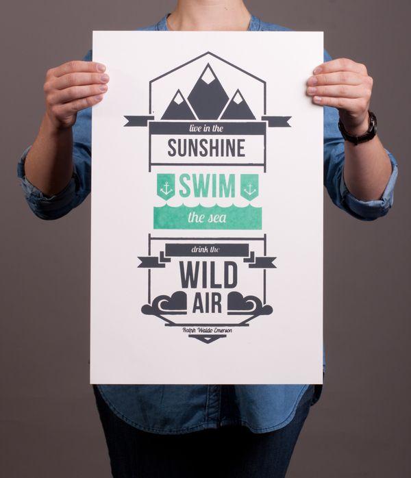 Drink the Wild Air by Beth Sicheneder, via Behance
