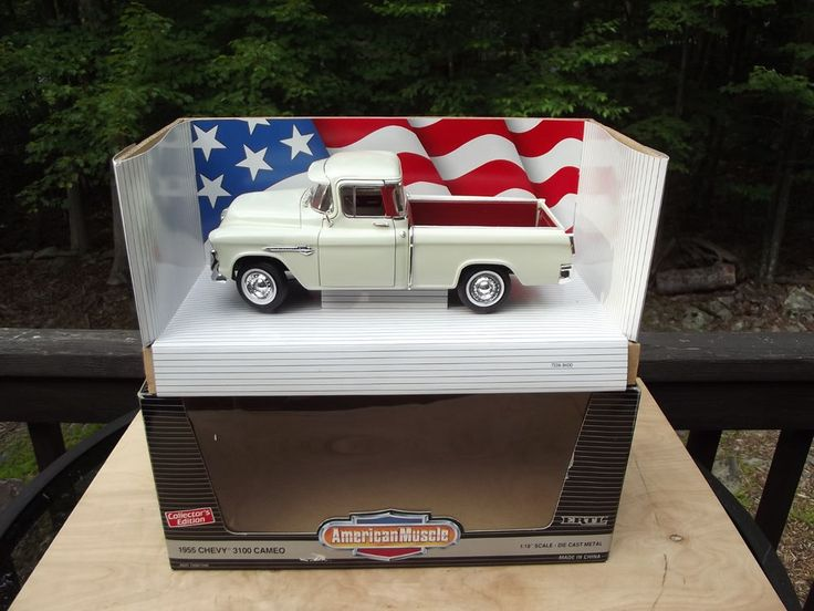 Ertl 1955 Chevy 3100 Cameo American Muscle Truck Scale model Diecast 1:18 Scale #Ertl #Chevrolet