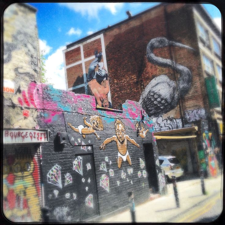 Street art on Brick Lane, London