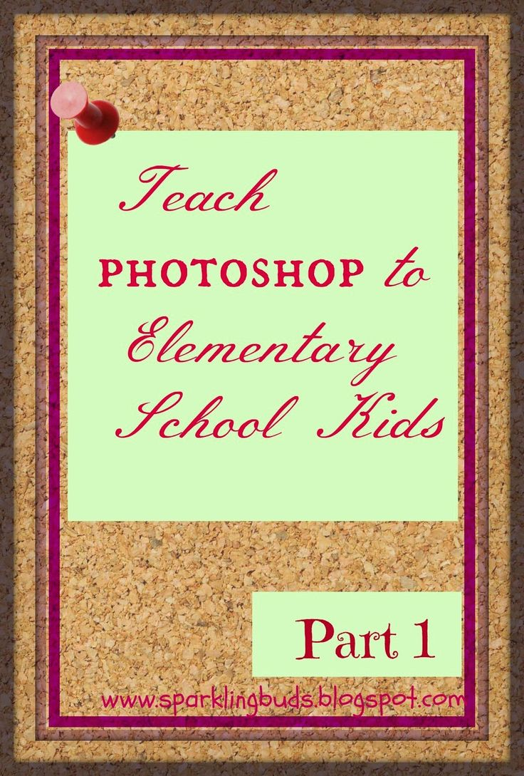 Free photoshop tutorial for Elementary school kids - Part 1 - Sparkling Buds