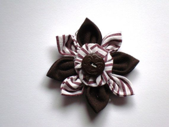 Handmade BROWNIES Flower Vintage Girl Guide Uniform Fabric Vintage Trefoil Button from Vintage GGC Girl Scouts Guiding