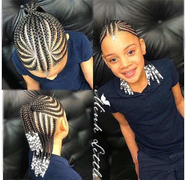 Natural Braids With Images Kids Braided Hairstyles Lil Girl