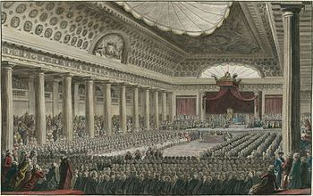 The Estates-General (or States-General) of 1789 (French: Les États-Généraux de 1789) was the first meeting since 1614 of the French Estates-General, a general assembly representing the French estates of the realm: the clergy (First Estate), the nobles (Second Estate), and the common people (Third Estate). Summoned by King Louis XVI to propose solutions to his government's financial problems, the Estates-General sat for several weeks in May and June 1789 but came to an impasse over the first…
