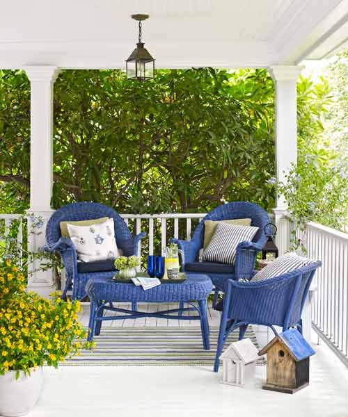 Make a seating area the main attraction. This cobalt-painted set looks fetching against white. | Photo: Julian Wass | thisoldhouse.com