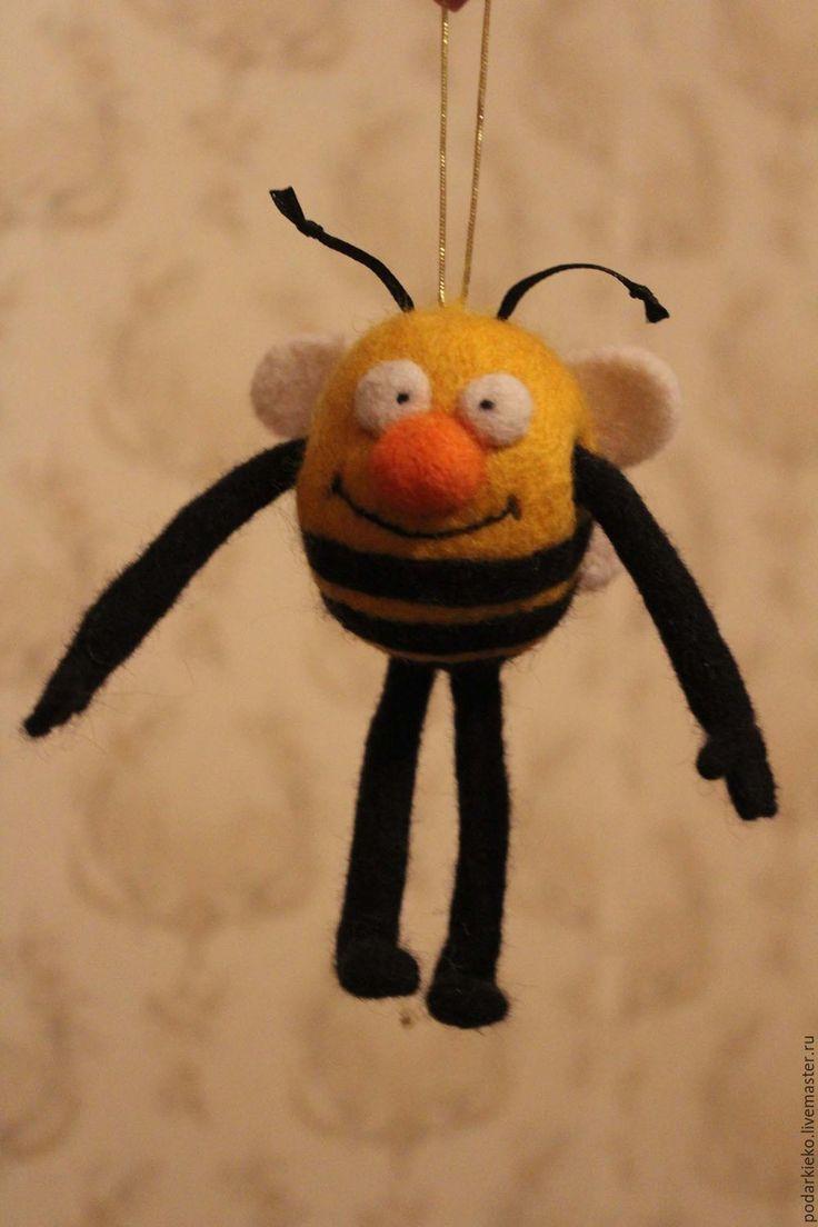 Купить Пчелка Майя своими руками из шерсти - пчела насекомое, игрушка пчела, Пчелка Майя