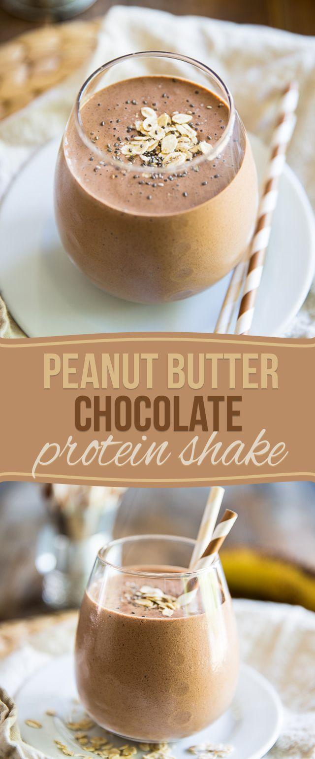 This Peanut Butter Chocolate Protein Shake is a nutritious and delicious way to feed your body and replenish your energy levels after a good workout!
