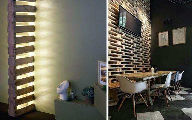 Decorar con pallets paneles decorativos y separadores de - Paneles decorativos ikea ...