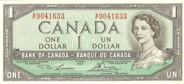 canadian money - $1....collectors and limited editions only now