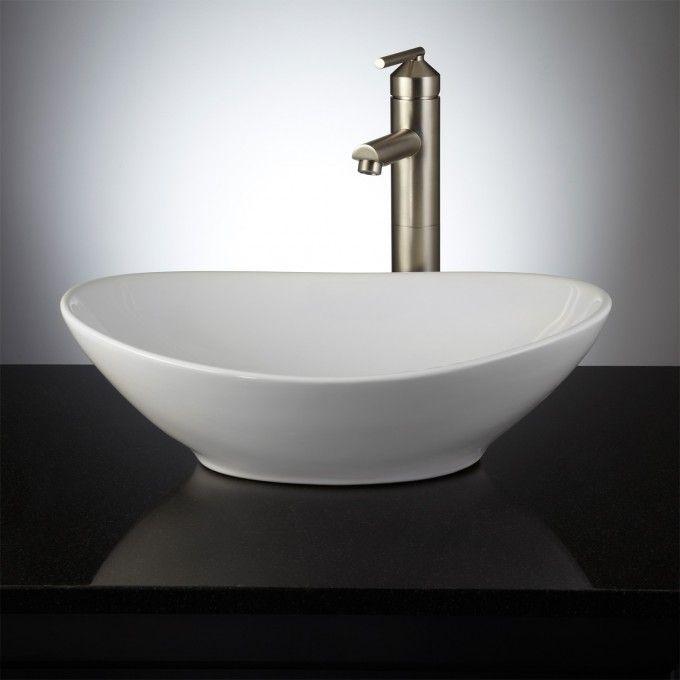 Valor Oval Porcelain Vessel Sink