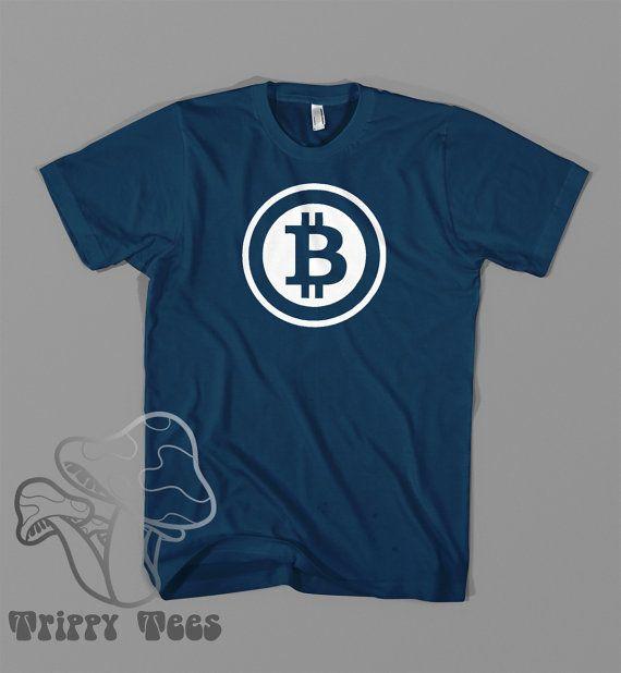 Unisex Bitcoin inspired  T Shirt Custom Vinyl Design by TrippyTee, $14.95