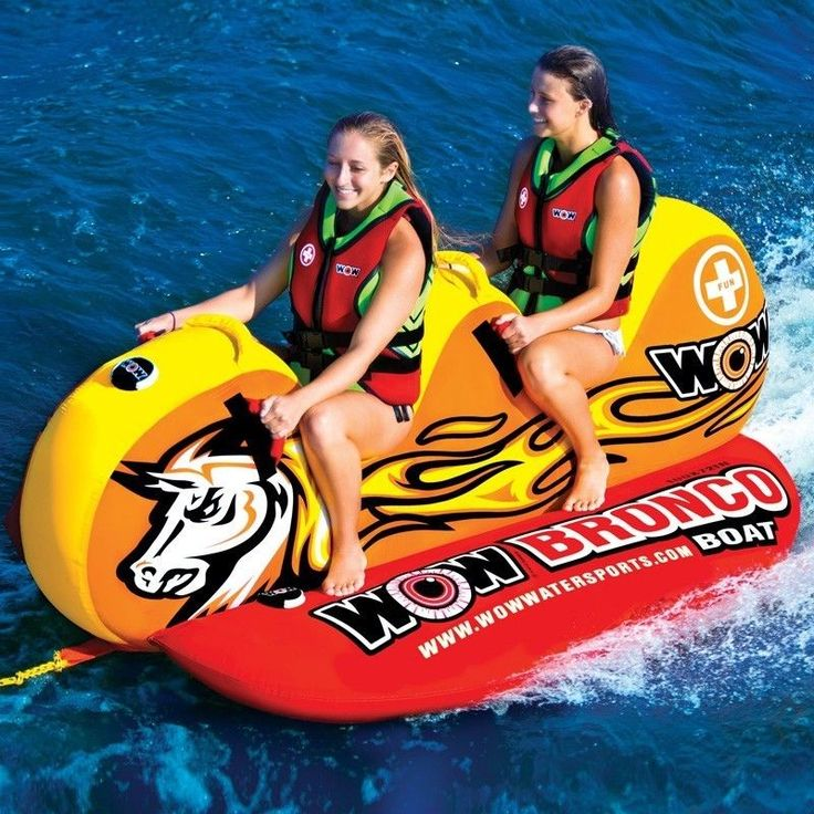 Bronco Boat 2 persons tube inflatable towable lounge water-ski new 2014 item WOW #worldofwatersports #towable