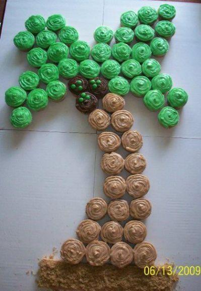 palm tree cupcake cake | ~~ Cupcake