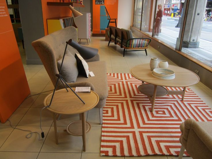42 best ercol out and about images on pinterest chair chairs ercols new svelto circular lamp and coffee tables in the window display at heals in tottenham aloadofball Images