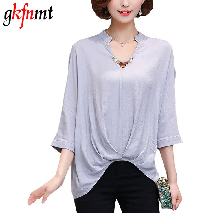 gkfnmt Linen Cotton Women Blouses V-Neck Shirt Blusas Feminina 2017 New Summer Casual Plus Size Loose Blouse Women tops