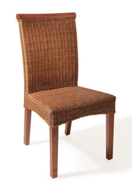 Silla de comedor carlota de bamb blau de m dula y madera - Sillas estilo colonial ...