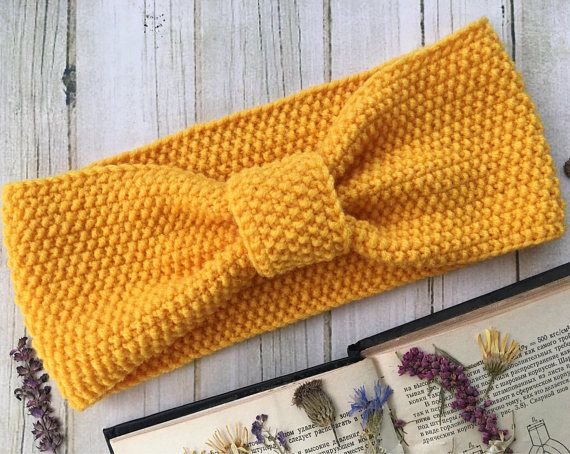 Wide Headband Wrap Ear warmers Knit bow headwrap Infinity headband Twisted headband Knit ear warmers Running headband Chunky turban headband THIS Ear warmers IS READY TO SHIP! One size fits all. MATERIALS: Knit headband is made from 50% wool and 50% acrylic. Warm wool hits you on
